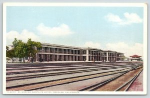 Needles California~El Garces~Santa Fe Hotel~Lots of Train Tracks~c1910