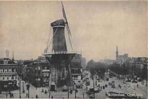 Netherlands, Rotterdam, Oostplein, windmill, auto cars animated