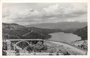 E67/ Donner Lake California Postcard Real Photo RPPC c40s Summit Bridge