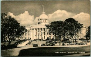 Montgomery, Alabama Postcard STATE CAPITOL Building Front View Mayrose c1940s