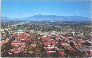 Air View of University of Arizona Campus and Area of Tucson AZ , Chrome