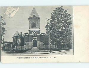 Pre-1907 CHURCH Oneonta New York NY A2415