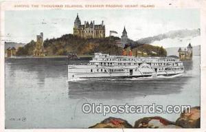 Steamer Passing Heart Island Ship Postcard Post Card Heart Island Postcard Po...