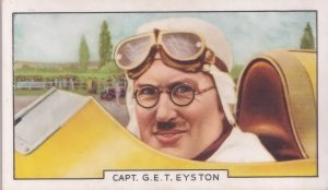 Captain George Eyston Motor Race Racing Champion 1930s Cigarette Card