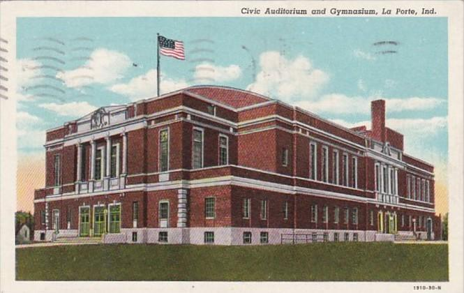 Indiana La Porte Civic Auditorium and Gymnasium 1948 Curteich
