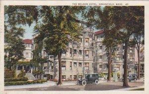 Massachusetts Greenfield The Weldon Hotel 1926