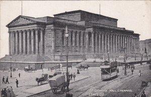 LIVERPOOL, Lancashire, England, United Kingdom; St. Georges Hall, Street Car,...