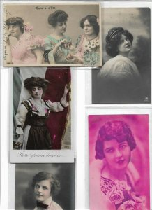 Woman Victorian Style Postcard Lot of 10 01.11