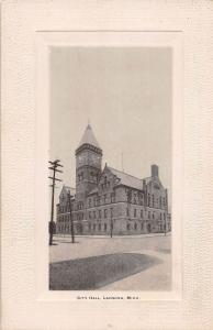 A25/ Lansing Michigan Mi Postcard c1910 Embossed City Hall Building