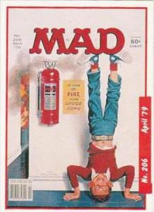 Lime Rock Trade Card Mad Magazine Cover Issue No 206 April 1979