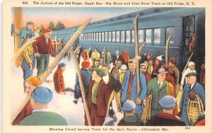 Arrival of the Old Forge New York