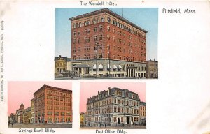 Savings Bank, Post Office, Wendell Hotel Copper Windows Pittsfield, Massachus...