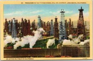 Signal Hill Oil District Oil Rigs Oil Field Long Beach California