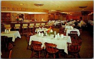 Mobile, Alabama Postcard GULAS RESTAURANT Interior View Dexter Chrome c1950s