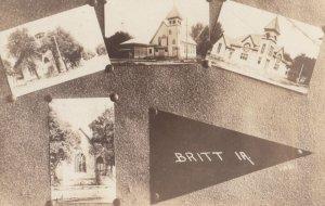 RP: BRITT , Iowa , 00-10s ; 4 view postcard
