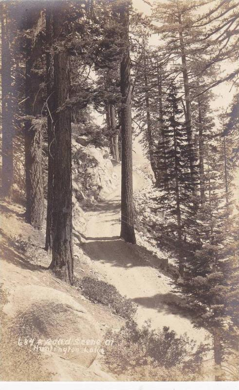 RP; A Road Scene at Huntington Lake Reservoir, Fresno, Califronia, 00-10s