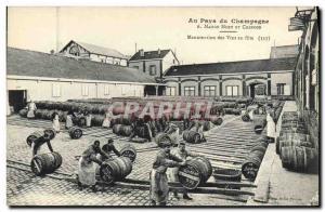 Old Postcard Folklore Wine Moet & Chandon Champagne Harvest Handling ds wines...