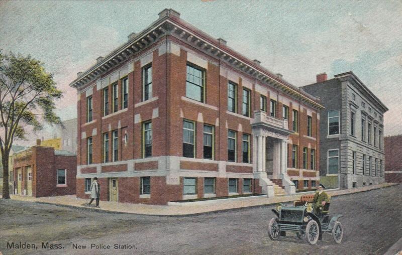 MALDEN , Massachusetts , 1909 ; New Police station
