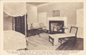 The Room Where Mary Ball Washington Stayed When She Visited Her Daughter At K...