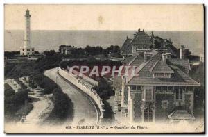 Old Postcard Biarritz Lighthouse District