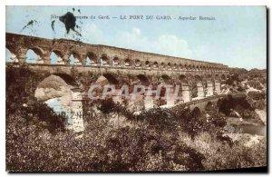 Old Postcard The Pont du Gard Roman Aqueduct