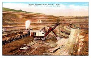 Mesaba Mountain Mine, Virginia, MN w/ Electric Shovel Postcard *4X