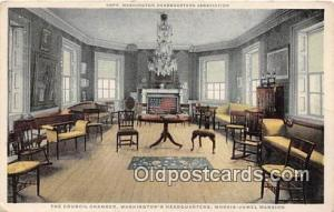 Council Chamber, Washington's Headquarters Morris Jumel Mansion Postcard Post...