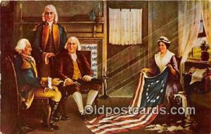 Birth of Our Nation's Flag Painting by Chas H Weisgerber Patriotic Postcard P...