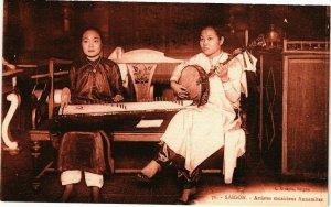 VIETNAM INDOCHINE - SSaigon - Artistes musiciens Annamites (190117)