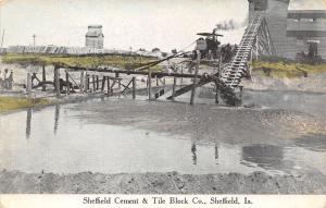 Sheffield Iowa~Concrete & Tile Company~Workers, Conveyor Chute c1910