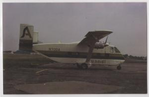 Summit Airlines SC-7 Aircraft On Tarmac Box Plane Aircraft Aviation Postcard