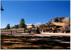 AZ - Grand Canyon National Park Railroad Station and Train