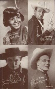 Cowboy Actor Multi 4 in 1 Arcade/Exhibit Card BOBBIE BLAKE FRED MORRISON