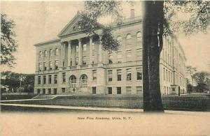 NY, Utica, New York, Free Academy, Undivided Back, Rochester News No. 2419
