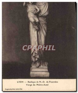 Postcard Old Lyon Basilica of Fourviere N D Virgin of the Altar