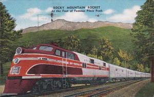 Rock Island Railway Rocky Mountain Rocket At The Foot Of Pikes Peak 1950