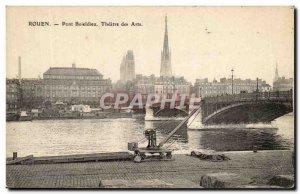 Old Postcard Rouen Pont Boieldieu Theater Arts