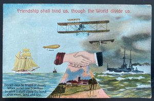 Mint England Picture Postcard Friendship Shall Bind Us Though The World