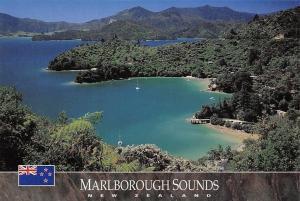 New Zealand Marlborough Sounds Te Mahia, Kenepuru Sound Panorama
