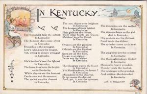 Kentucky Poem By Jas H Mulligan Curteich