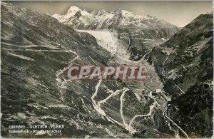Modern Postcard Gletsch Furka Grimsel Galenstock