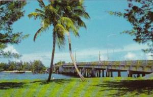 Intracoastel Waterway Bridge Leading To Beach Lantana Florida