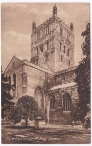 Gloucestershire; Tewkesbury Abbey Tower PPC, Unposted By Frith, c 1930's