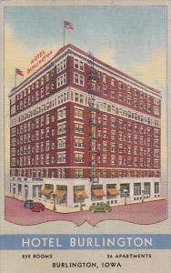 Iowa Burlington Hotel Burlington 1960