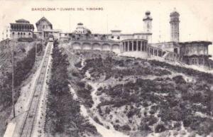 Train On Railroad Tracks, Cumbre Del Tibidabo, Barcelona (Catalonia), Spain, ...