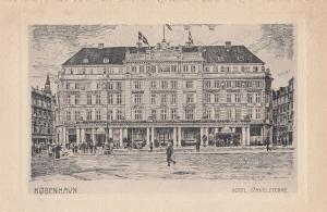 Kobenhavn Hotel D'Angleterre Artist Drawing Denmark Old Postcard