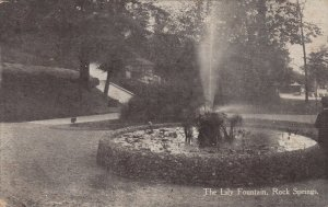 ROCK SPRINGS, West Virginia, 1910 ; The Lily Fountain