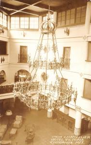 Chihuahua MX Iron Chandelier~Hotel Victoria Lobby~Haven't Used French RPPC c1950