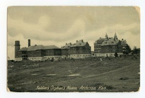 Postcard Soldier's Orphan's Home Atchison Kan. Kansas Standard View Card