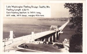 RP; SEATTLE ,  Washington , 30-40s ; Lake Washington Floating Bridge